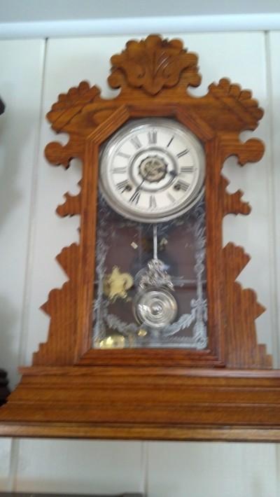 Ansonia Bedford Beautiful Golden Oak Mantle Clock With Alarm